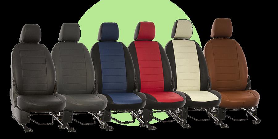 Модельные чехлы на сидения из кожзаменителя - 5