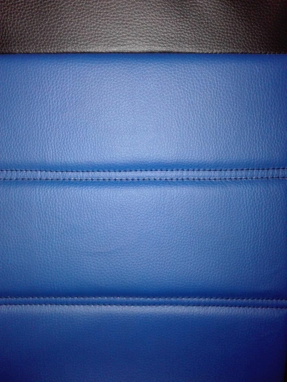 Чехлы на сидения Pilot Lux кожвинил синий - 5