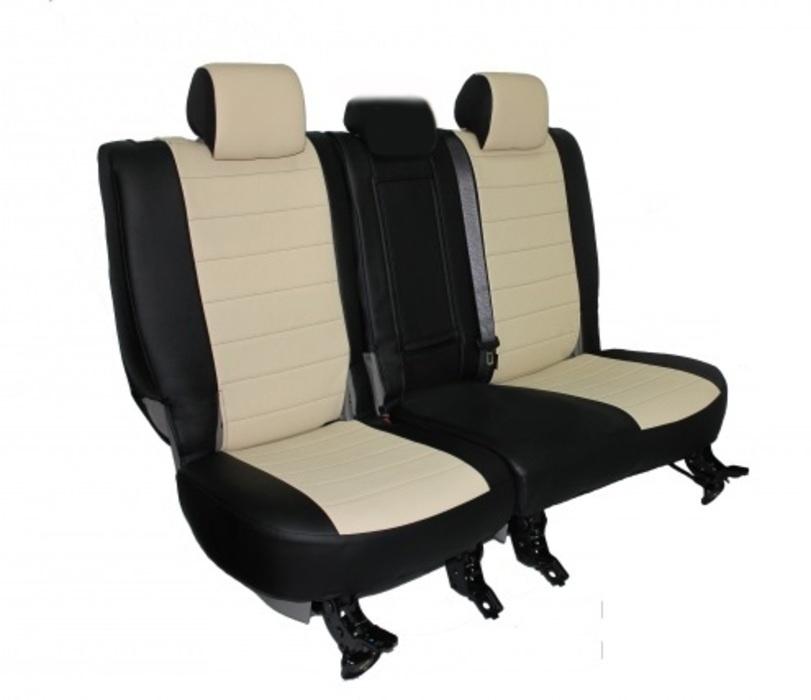 Чехлы на сидения Pilot Lux кожвинил бежевый - 10