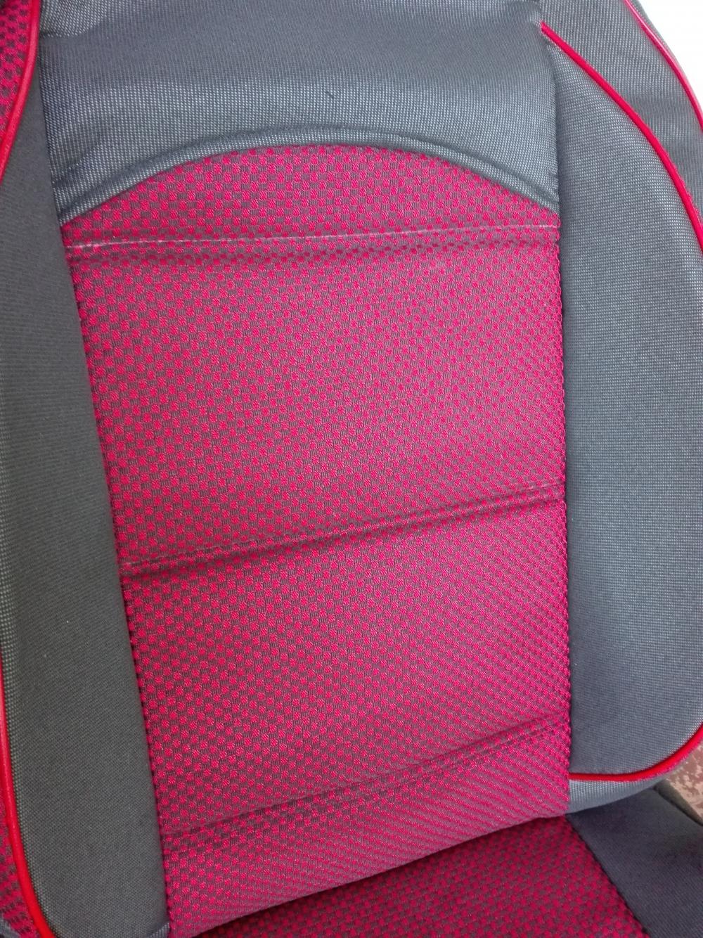 Чехлы на сидения из автоткани Pilot Lux темно красный - 4