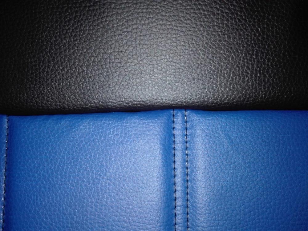 Чехлы на сидения Pilot Lux кожвинил синий - 1
