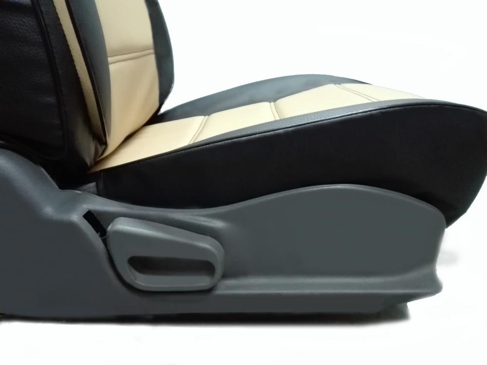 Чехлы на сидения Pilot Lux кожвинил бежевый - 7