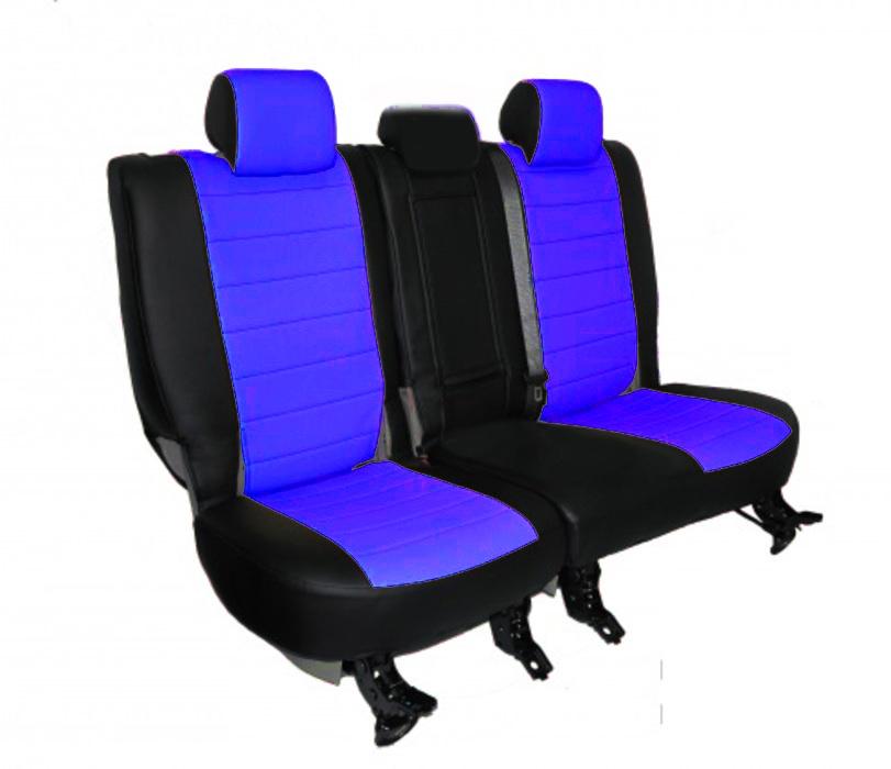 Чехлы на сидения Pilot Lux кожвинил синий - 7
