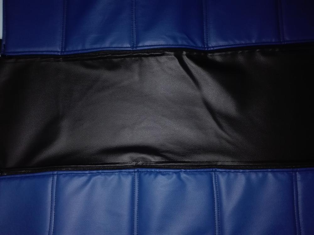 Чехлы на сидения Pilot Lux кожвинил синий - 6