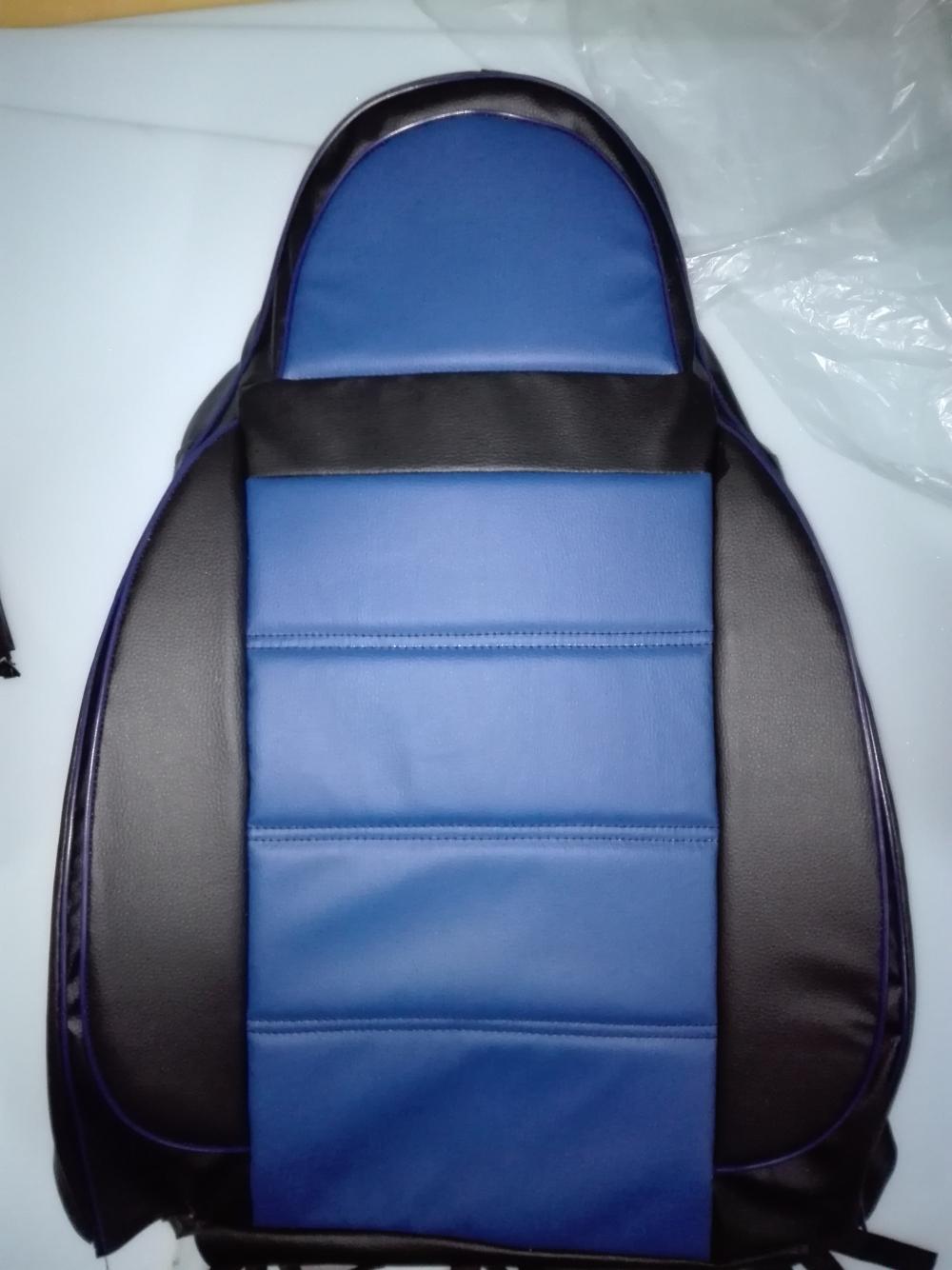 Чехлы на сидения Pilot Lux кожвинил синий - 4
