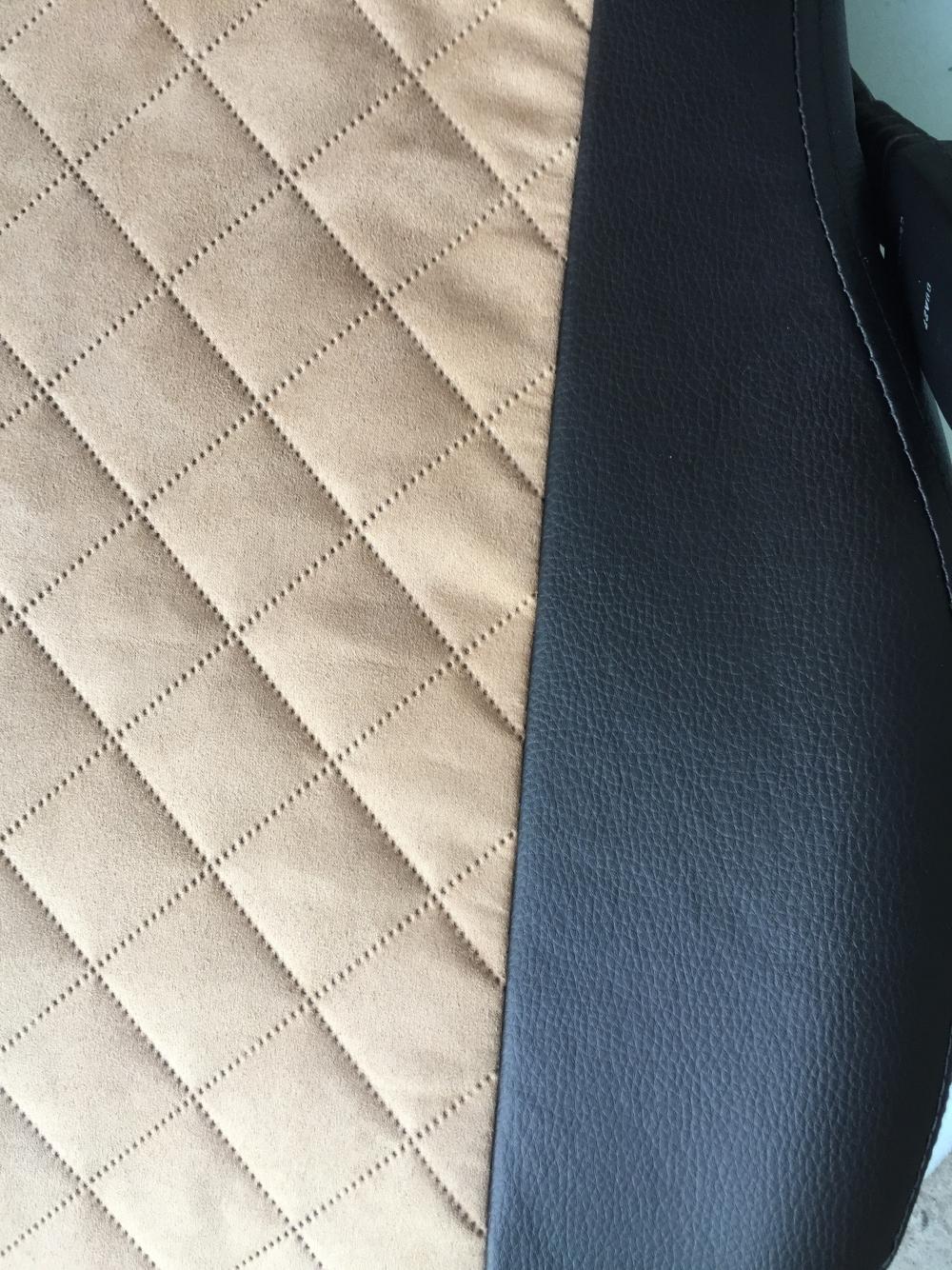 Модельные чехлы на сидения из экокожи  + алькантара  Ромб - 3