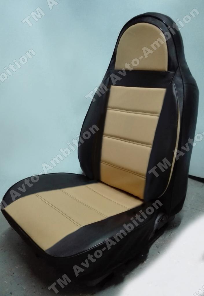 Чехлы на сидения Pilot Lux кожвинил бежевый - 6