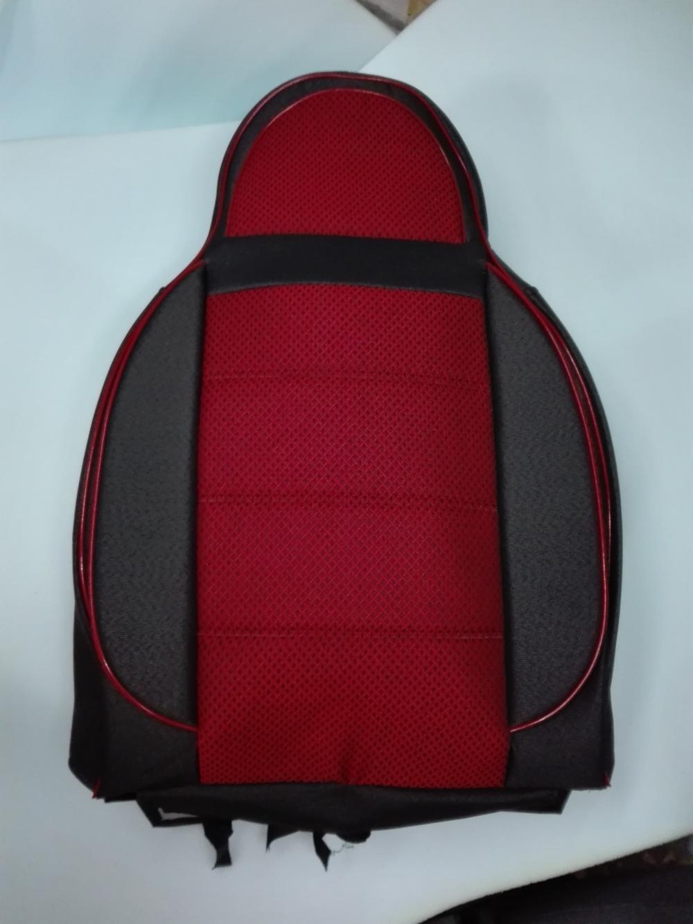 Чехлы на сидения из автоткани Pilot Lux темно красный - 2